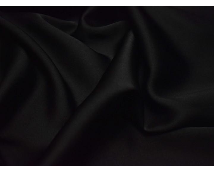 Шелковый атлас черного цвета
