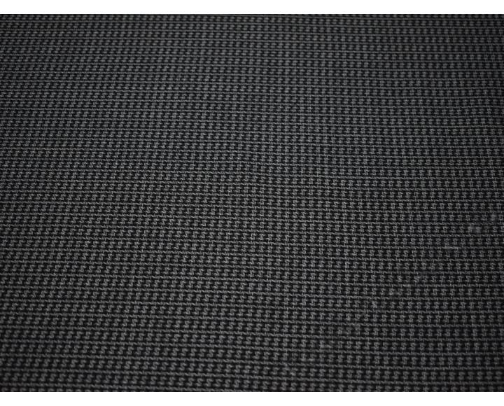 Костюмная шерсть черно-серая геометрический принт