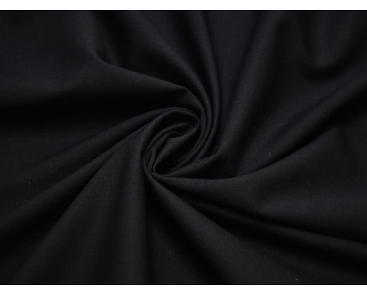 Костюмная шерсть черно-синяя