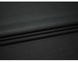 Костюмная шерсть чёрная полоска