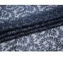 Сетка с вышивкой темно-синяя с листьями