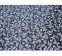 Сетка с вышивкой темно-синие листья