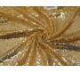 Сетка с пайетками золото