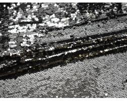 Сетка с пайетками серебро