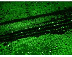 Сетка с пайетками зелено-черная