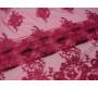 Сетка с вышивкой бордовые цветы