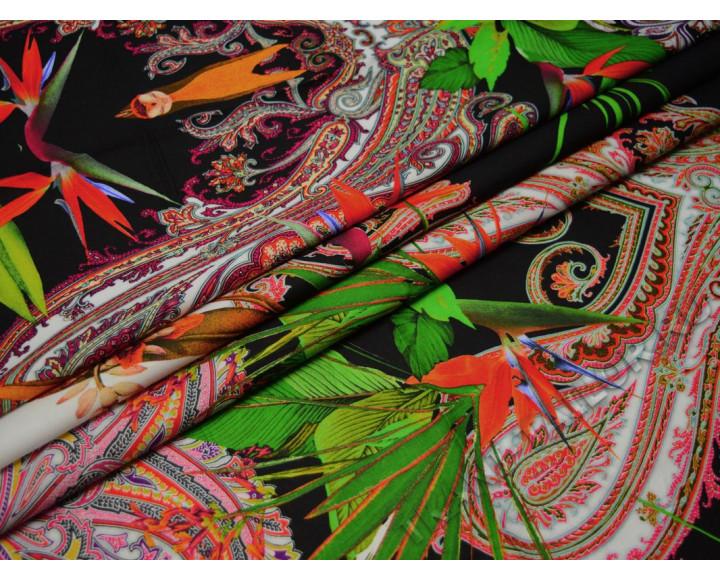 Плательная с абстрактным принтом разноцветная