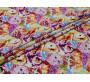 Плательная разноцветная ткань принт совы