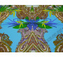 Плательная разноцветная с абстрактным узором