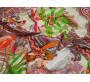 Плательная разноцветная с листьями
