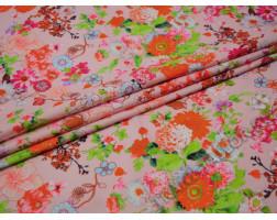 Плательная бледно-розовая с цветами