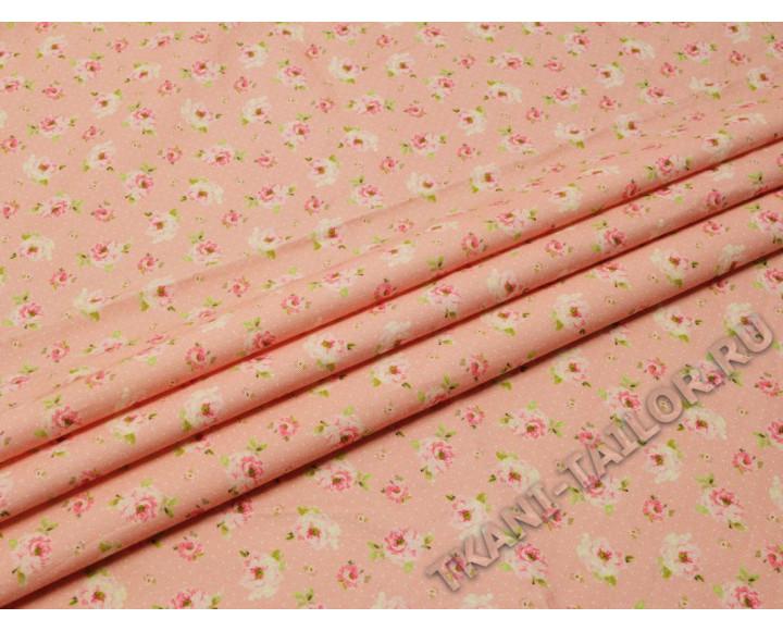 Плательная бледно-розовый с цветами