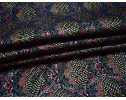 Жаккард разноцветный абстрактный
