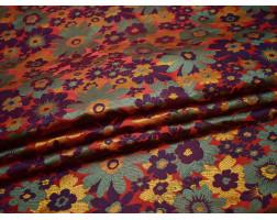 Жаккард разноцветные цветы