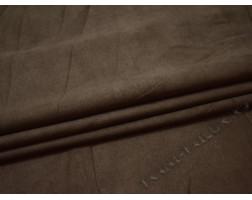 Замша серо-коричневая