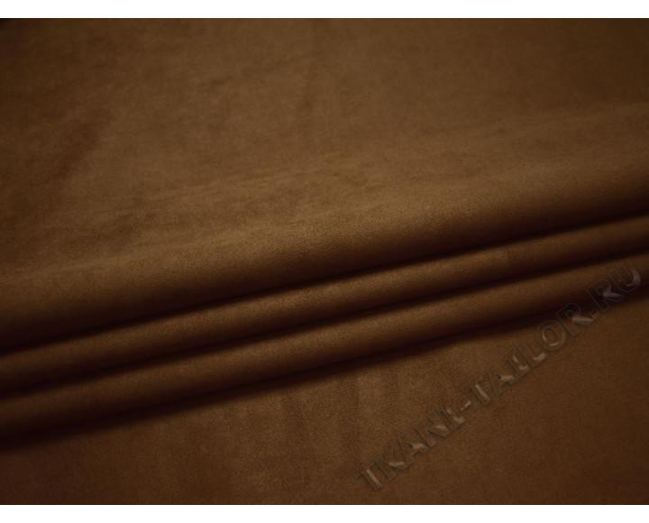 Замша коричневая