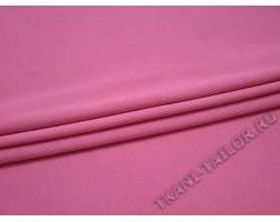 Трикотаж рибана розовый