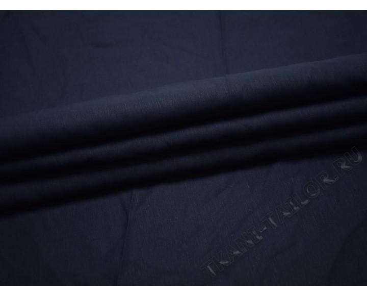 Лен темно-синего цвета