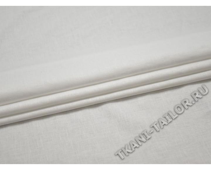 Льняная ткань белая