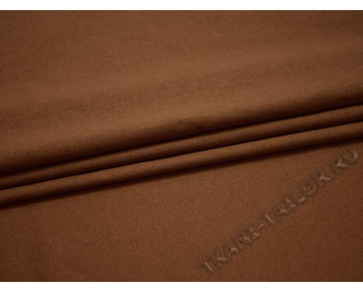 Лен бежево-коричневый