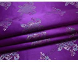 Китайский шелк фиолетовый абстрактный