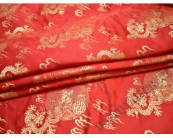 Китайский шелк красный абстрактный