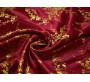 Китайский шелк бордовый с цветами