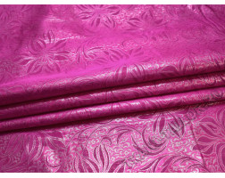 Парча розовая с цветами
