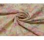 Джинсовая ткань разноцветная с цветами