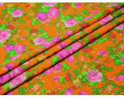 Джинсовая разноцветная с цветами
