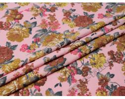 Джинсовая розовая с цветами