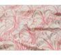 Джинсовая ткань айвори с листьями