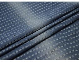 Джинсовая синяя ткань с перфорацией