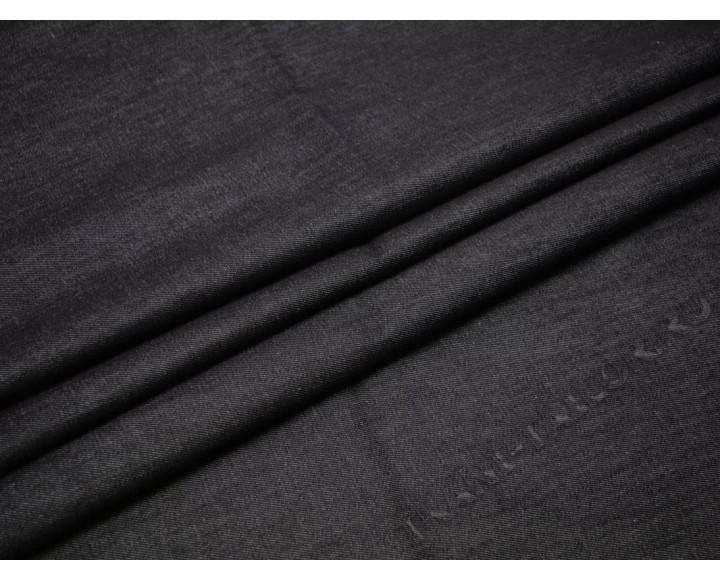 Джинсовая ткань темно-серая плотный стрейч