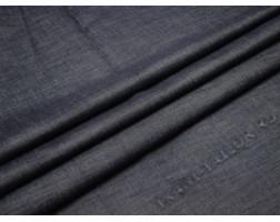 Джинсовая ткань темно-синяя на флисе