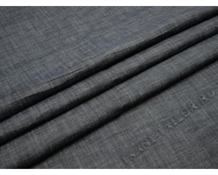 Джинсовая ткань серая маренго