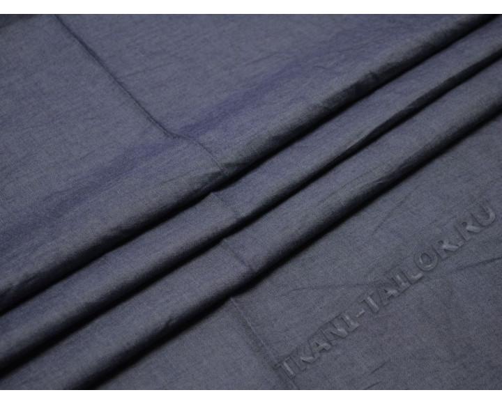 Джинсовая ткань темно-синяя тонкая