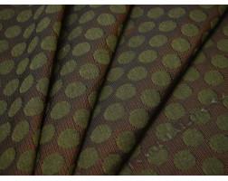Жаккард зеленый горошек