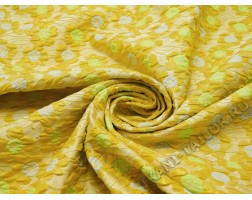 Жаккард  разноцветный с цветами