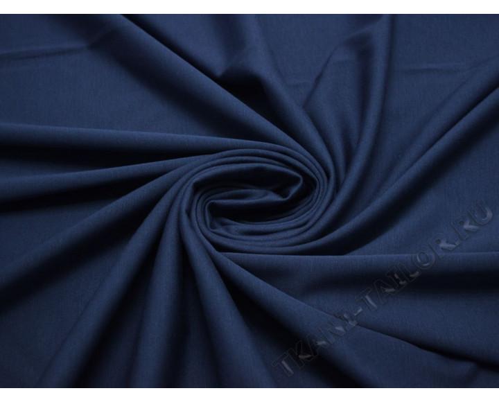 Трикотаж джерси темно-синий
