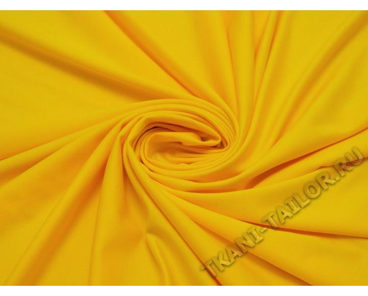 Трикотаж джерси желтый