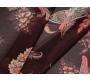 Шифон темно-коричневый с огурцами