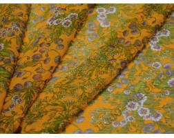 Шифон желтый с цветами