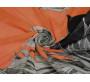 Шифон оранжевый с цветами