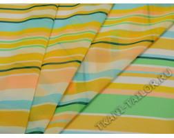 Шифон разноцветные полосы