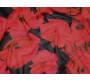 Шифон черный с розовыми цветами
