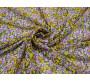 Шифон сиренево желтые цветы