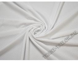 Бифлекс матовый белый в мелкий горошек