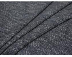 Костюмная ткань с принтом бело-серая