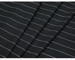 Костюмная ткань темно-серая в тонкую белую полоску